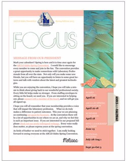 ASCLS-Idaho FOCUS Newsletter Spring 2015