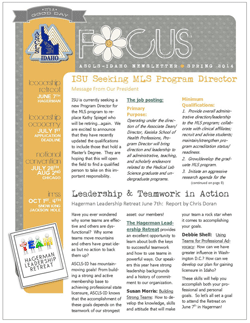 ASCLS-Idaho FOCUS Newsletter Spring 2014
