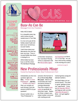 ASCLS-Idaho FOCUS Newsletter Winter 2014