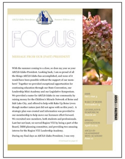 ASCLS-Idaho FOCUS Newsletter Summer 2015
